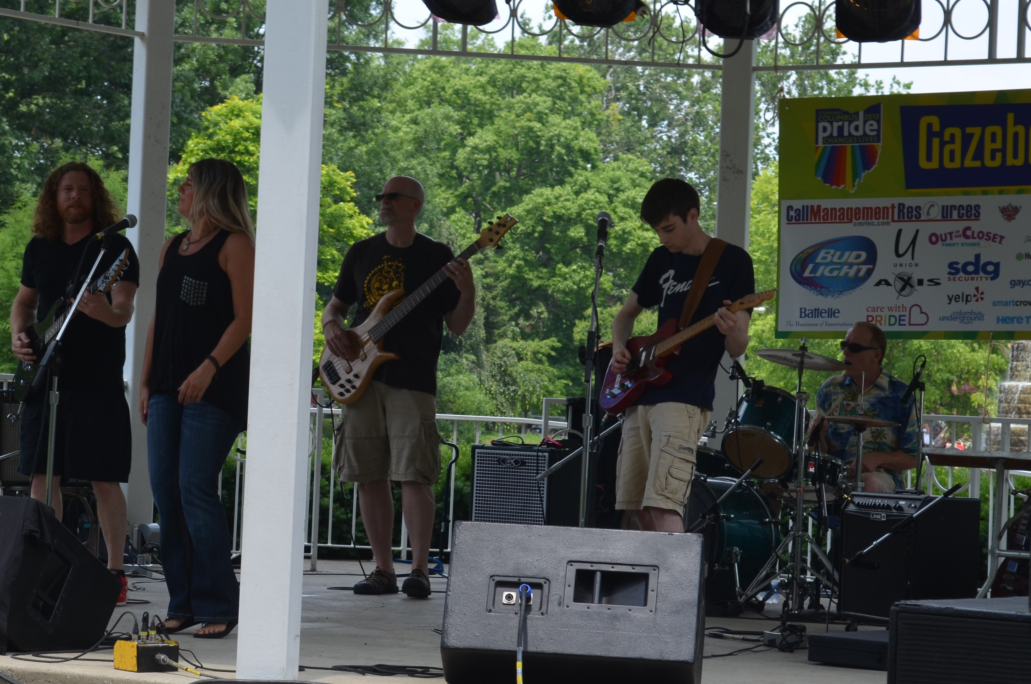 The Pink Flamingos Rock Band @ Columbus Pride Festival 2013, June 22nd